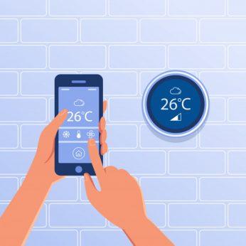 draadloze kamerthermostaat